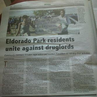 The community of Eldorado Park recently held a march to stand up against drug lords.