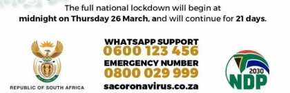 SA Lockdown Guidelines & Information Infographic
